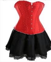 lingerie 3x - Plus Size Sexy Bustier Corset Fancy Dress Basques skirt Lingerie Costumes S M L XL X X X X X