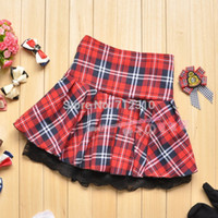Wholesale Hot Sell New Fashion Popular Red Casual Scotland short skirts Student School Plaid Ball Gown Women Skirt LX01