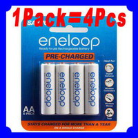 Wholesale 1Pack Batteries SANYO AA eneloop mAh Pre charged Rechargeable Battery