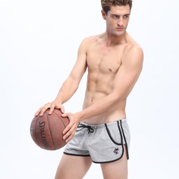 Wholesale-WJ high quality hot sports shorts men running shorts cotton breathable comfort shorts men with two pocket 2pcs lot 1010-DK