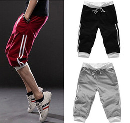Wholesale-mens short pants casual sports shorts fashion sweatpants joggers pants for boys large big size XXL outdoor sports clothes