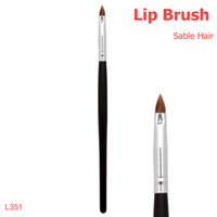 hair gloss - Professional Sable Hair Makeup Brush Lip Brush Applicator For Perfect Lipstick Or Gloss Application