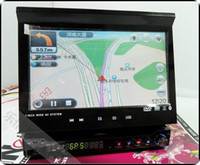 Wholesale New DA inch car DVD navigation one machine with single spindle automatic retractab