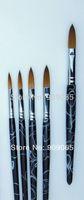 acrylic paint black - Nail Tools High quality White black pink size Pure kolinsky professional painting acrylic brush