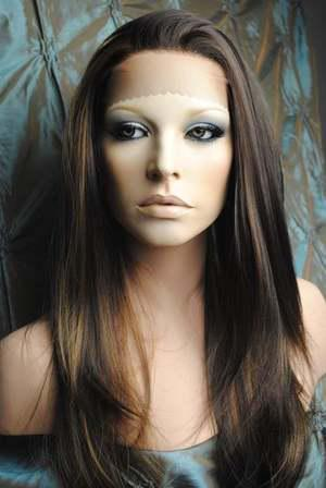 """XCSUNNY Gorgeous 14""""-26"""" Sexy Straight #4/27 Wig Heat Friendly Lace Front Wigs NYS007"""