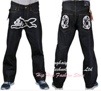 bbc jeans - Billionaire Boys Club Man Skateboard Straight Jeans BBC Pialot Character Jean Fashion