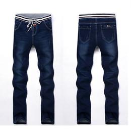 Discount Elastic Waist Denim Jeans For Men | 2017 Elastic Waist ...