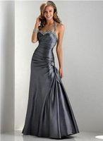 Wholesale New design Satin Floor length Sleeveless Sery Celebrity Dresses Oscar Evening Dress Gown No
