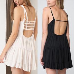 Wholesale-New Summer Dresses All-match Casual Dress Girl Sexy Backless Jada Mini Dress Black & White 2015 Fashion