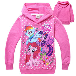 Wholesale New arrival Girls hoodie sweater My Little Pony Children s Spring Autumn kids Cartoon Horse cotton Long sleeved t shirt