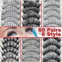 Wholesale Brand new Pair Style Long False Eyelashes Eyelash Eye Lashes shipped by HK POST t22