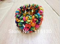 Cheap Wholesale-Hot Selling Natural Stretchy Colorful Wooden Beads Bracelets Bangles Wood Gifts Handicrafts Wholesale Jewelry Accessories