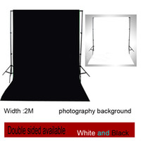 Wholesale Double Faced White amp Black Width M Cotton and Polyester Photo studio Chromakey screen Photography Background cloth backdrop