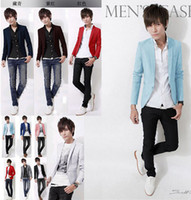 Wholesale Blazer Masculino Suit Men Hot Freeshipping Regular Cotton New Coming Causal Men Blazers England Fashion Suits For Color