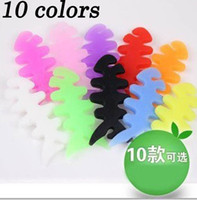 Cheap Wholesale-2 pcs New arrival hot sale silicone earphone winder cable reel winder fish fishbone Headphone cable winder ,Free Shipping