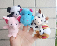 Cheap Super cute finger puppet toys children story dolls animal finger toys story-telling props 10pcs set
