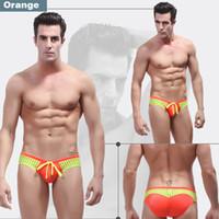 Cheap Wholesale-1 Pcs WJ brand high quality 2015 NEW swimwear briefs pants men's swimwear sexy swim brief mens bikini swimwear Trunks 8 colors