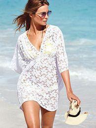 Wholesale-swimwear beach cover up summer dress 2015 Sexy lace swimwear cover ups pareo tunic dress as swimsuit bikini cover ups 0352