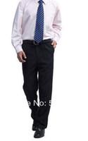 Cheap Wholesale-Free shipping men women suit pants Formal business men's navy Black trousers 157