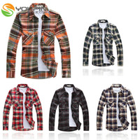 best western shirts - New Red Green Men Long Sleeve Best Collection Western Grid Pattern Shirts