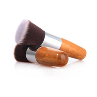 cosmetic mineral makeup - Wooden Handle and Goat Hair Mineral Flat Top Powder Cosmetic Makeup Brush Y8oAqX