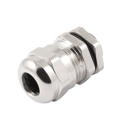 Wholesale M14x1 Silver Tone Metal Waterproof Connector Cable Gland for mm Wire