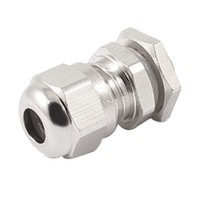 Wholesale M8x1 mm Wire Silver Tone Metal Waterproof Connector Fastener Cable Gland