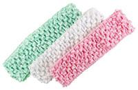 1.5 crochet headbands - 100pcs Nylon crochet headband Children s baby Crochet band girl quot Crochet Headbands soft High quality FD6502