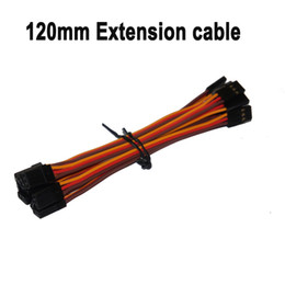 Wholesale-Free shipping 10pcs lot 120mm RC extension lead servo cable JR male to male plug servo cable cord wire cable for aeromodelo from servo lead free shipping suppliers