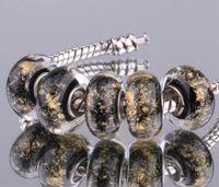 Wholesale sterling silver DIY thread Murano Glass Beads Charms fit Europe pandora Bracelets necklaces bgoajxva buaaklha F064