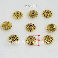 antique gold tone - Antique Style Tibetan Tone Small Flower gold spacer beads caps