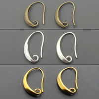 antique bronze hooks - Antique Bronze Silver Gold Plated Ear Wires Hook Earring for DIY Jewelry mm
