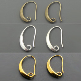 Wholesale Antique Bronze Silver Gold Plated Ear Wires Hook Earring for DIY Jewelry mm