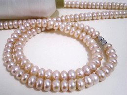 """Classic 16"""" 8-9mm Beautiful Pink Freshwater Pearl Necklace"""