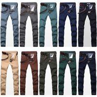 men color jeans - New Skinny Pencil Jeans Fashion Color Men s Slim Fit Stretch Denim Trousers Male Brand Casual Jeans Pants
