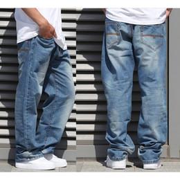 Wholesale rocawear mens classic fit R harem pants plus size skateboard fashion mens wide leg jeans leopard big men clothing