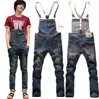 overalls for men - ripped jeans for men hot sale high quality mens skinny jumpsuit bib pants mens overalls fashion
