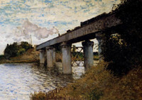 Wholesale Oil painting The Railway Bridge At Argenteuil x36Inch
