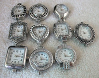 watch faces - 10 Mixed styles Silver Quartz Beading Watch face W8464