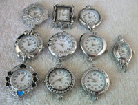 watch face for beading - 10PCS Of Mixed styles Silver Color Quartz Beading Watch face For Jewelry Making W8442