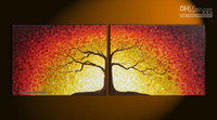 art deco oil paintings - quot Tree Of Life quot Large Modern Abstract Art Oil Painting Wall Deco canvas