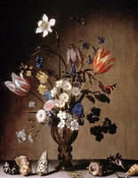 Wholesale Oil painting Still Life with Flowers and Shells x36Inch