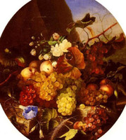 Wholesale Oil painting Still Life Of Fruit And Flowers x36Inch