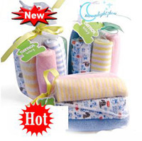 Wholesale 8 pack set Baby Burp Cloths towels Children s blanket Sets Gift Sets Suction towel sets