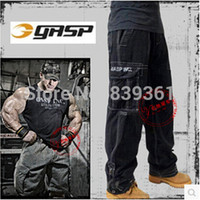 baggy bodybuilding pants - GASP American Fitness Tactical Cargo Pants Men Bodybuilding Training Multi Pockets Trousers Overalls Sports Baggy Pant in GYM