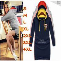 sweatsuits - vestidos femininos Hot Sale New Women Cheap Clothes Sport tracksuits Sweatsuits Hoodies Costume Cotton Dress Plus Size XL