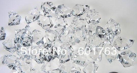 Wholesale 180pcs Clear Acrylic Crystal Rock Ice Confetti Table