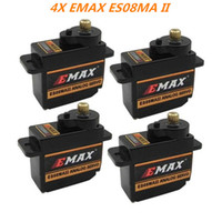 Wholesale Genuine EMAX ES08MA II Metal Gear Servo Motor Torque kg With JR Plug for RC Airplane Trex Helicopter Aeromodelling