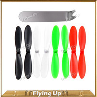 Wholesale x Blades Professional Propellers Rotors for Original Hubsan X4 H107C RC Quadcopter Spare Part Blade Christmas Sales