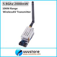 av video sender - Boscam FPV Ghz mW W Channel Wireless Audio Video Transmitter AV Sender for FPV system KM Range